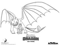 Hiccup and Night Fury – How to train your Dragon coloring pages for kids