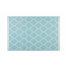Outdoor-Teppich aus türkisfarbenem Stoff 160x230cm | Maisons du Monde