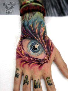 hand eye tattoo, tatuaje ojo en mano by Emanuele Persanti Hand Eye Tattoo, Hand Tattoos, Tattoo Sketches, Tattoo Drawings, Henna, Tattoo Trends, Tattoo Ideas, Cool Tats, Dragon Eye