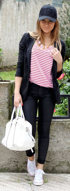 Red Stripes Sporty Chic Style