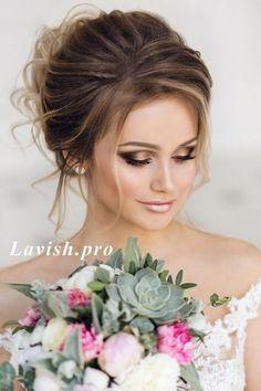 Amazing Wedding Makeup Tips – Makeup Design Ideas Fresh Wedding Makeup, Elegant Wedding Hair, Wedding Hair And Makeup, Bridal Makeup, Bridal Hair, Wedding Hair Front, Trendy Wedding, Unique Wedding Hairstyles, Bride Hairstyles