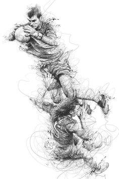 Line Drawing, Drawing Sketches, Pencil Drawings, Art Drawings, Soccer Art, Football Art, Sport Football, Benjamin Shine, Vince Low