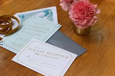 Elegant summer inspired wedding stationery #makeitamomenttoremember