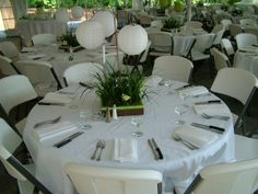 Table setting for buffet style wedding t wall decal - Table setting for dinner date ...