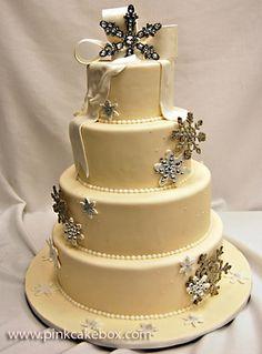 Winter Wonderland Wedding Cake by Pink Cake Box 4 Tier Wedding Cake, Wedding Cake Images, Themed Wedding Cakes, Beautiful Wedding Cakes, Beautiful Cakes, Amazing Cakes, Wedding Ideas, Wedding Themes, Wedding Pictures