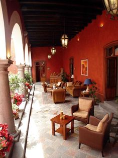Hacienda veranda in Mexico...