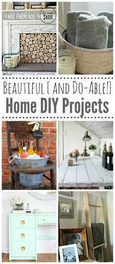 Fabulous DIY Projects for Home - Clean and Scentsible Fabulous collection of rustic DIY projects for your home. These are totally do-able! Diy Projects Apartment, Diy Projects For Bedroom, Diy House Projects, Diy Craft Projects, Apartment Design, Living Furniture, Diy Furniture, Woodworking Furniture, Furniture Plans