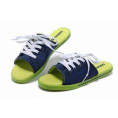 795335f5c322 Cheap Converse Flip-Flops 2013 Newest Fashion Summer Dazzle Colour Blue  Green Slipper Canvas.