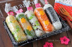 混ぜるだけの簡単スティックおにぎり弁当☆お花見に・・ in 2020 Japanese Food Sushi, Japanese Dishes, Cooking For Boys, Cooking Sushi, Bento And Co, Bento Recipes, Chicken And Dumplings, Cute Food, Food Dishes