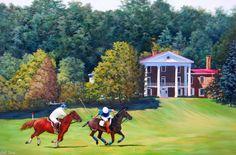 Bryn Du Polo Match painting by Earl Duck