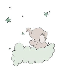 Elephant Nursery Art Prints Up And Away by SweetMelodyDesigns