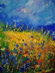 "Saatchi Online Artist Pol Ledent; Painting, ""Cornflowers 451121"" #art"