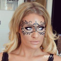 DIY Glam Masquerade Mask - Using only Eyeliner - YouTube ...
