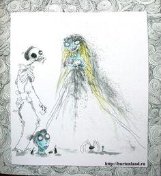 Tim Burton's Corpse Bride illustration