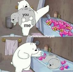 - Kermit the Frog Memes Bear Wallpaper, Cartoon Wallpaper, Cartoon Memes, Funny Memes, Cartoon Bear, Cartoons, We Are Bears, Sapo Meme, Heart Meme