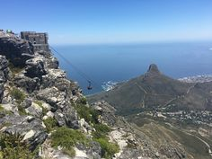 View of Lions Head from Table Mountain Boulder Beach, Table Mountain, Cape Town, Bouldering, Mount Rainier, Lions, South Africa, Mountains, Nature