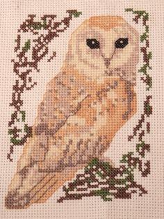 Barn Owl cross stitch kit: birds series by MKDesignArt on Etsy