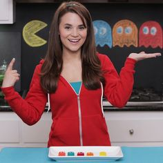 Made Pacman Jello Jigglers today on Nerdy Nummies! So yummy! Check out the full video on YouTube.com/RosannaPansino!