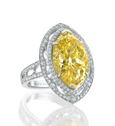 Boodles: Yellow Marquise Diamond Ring