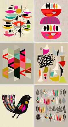 Inaluxe Graphic Design and Illustrations - Illustration à encadrer (mur de cadres)