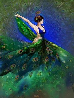 touchn2btouched Peacock Wall Art, Peacock Painting, Peacock Print, Peacock Images, Fairy Art, Mythical Creatures, Chinese Art, Beautiful Birds, Female Art