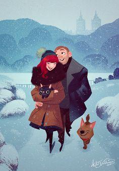 A Sunday Walk by Katri Valkamo