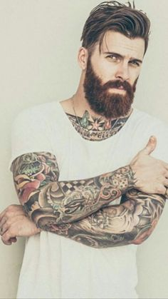 Beard Growth Oil and Balm in regular and extra strength, growth spray, mustache growth oil, grooming kits. Best beard growth made with organic ingredients. Beard Styles For Men, Hair And Beard Styles, Long Hair Styles, Mens Hairstyles With Beard, Haircuts For Men, Awesome Beards, Hommes Sexy, Beard Tattoo, Men's Grooming
