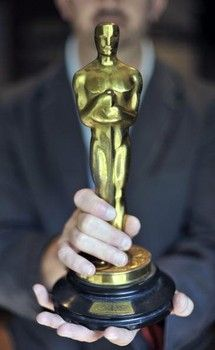 Interesting things about the 'Oscar' statue  http://www.examiner.com/article/interesting-things-about-the-oscar-statue