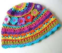 Colorful HatThis crochet pattern / tutorial is available for free... Full Post:Colorful Hat