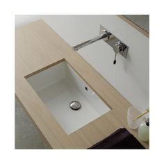 Scarabeo by Nameeks Miky Undermount Bathroom Sink-- I like these plain rectangular box sinks