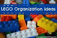 LEGO storage and organization ideas - The Pleasantest Thing