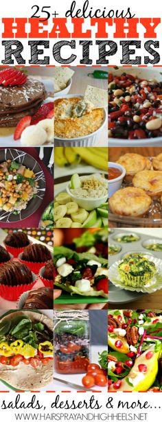25  Healthy Recipes For The New Year via www.hairsprayandhighheels.com