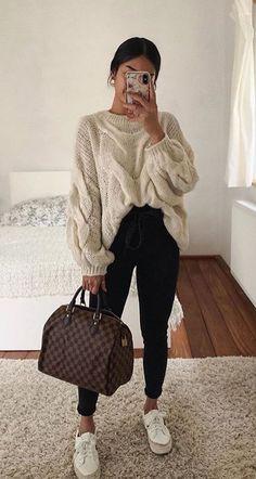Cute Casual Winter Fashion Outfits For Teen Girl Trendy Fall Outfits, Casual Winter Outfits, Teen Fashion Outfits, Mode Outfits, Girly Outfits, Classy Outfits, Outfits For Teens, Stylish Outfits, Fashion Women