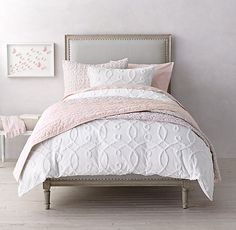 Designer Bedding Sets On Sale Refferal: 7405700427 Bed Comforters, Cheap Bed Sheets, Girl Room, Luxury Bedding Sets, Bed, Bedroom Bliss, Luxury Bedding, Restoration Hardware Bedding, Bedding Collections