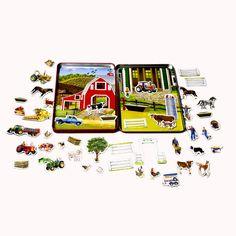 Farm Magnetic Tin Play Set - T.S. Shure