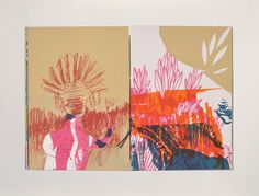 Screen printed book by Marion Jdanoff