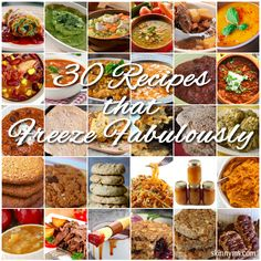Prepare your meals ahead of time! Save time with these 30 Recipes that Freeze Fabulously. #freezer #recipes #skinnyms