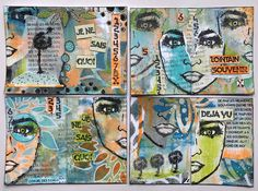 PaperArtsy Collage by Nikki Acton Tracy Scott, Little Books, Art Journal Pages, My Stamp, Mixed Media Art, Altered Art, Collage Art, Art Drawings, Art Projects