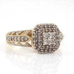 #jewelry Keepsake 10K Yellow Gold Natural Diamond Cluster Ring Size 7 QR1 please retweet