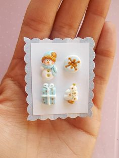 Snowman Earrings Christmas Earrings Xmas Earrings Snow