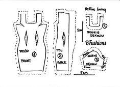 Sukienka z dekoltem karo dla Barbie | BFashions