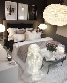 Werbung/Advertisement ( Markennennung) Wish you all a nice evening. Cute Bedroom Ideas, Cute Room Decor, Room Ideas Bedroom, Girl Bedroom Designs, Home Decor Bedroom, Luxury Bedroom Design, Glam Bedroom, Teen Bedroom, Bedroom Inspo