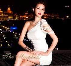 Morpheus Boutique  - White One Shoulder Strap club wear Banded Pencil Dress, $39.99 (http://www.morpheusboutique.com/products/white-one-shoulder-strap-club-wear-banded-pencil-dress.html)