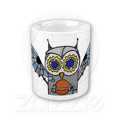 Robot Owl Mugs