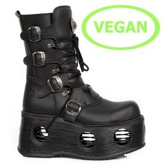 Explore the world of New Rock boots, shoes and accessories. Exclusive new products daily. Punk Fashion, Leather Fashion, Shoes Heels Boots, Heeled Boots, Goth Platform Boots, New Rock Boots, Vegan Boots, Kinds Of Shoes, Shoe Shop