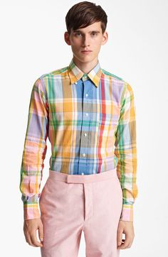 Multicolor Madras Plaid Cotton Shirt - Lyst