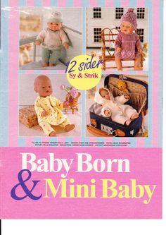 Albumarkiv Knitting Dolls Clothes, Sewing Dolls, Doll Clothes, Knitted Doll Patterns, Knitted Dolls, Baby Born Mini, Girl Dolls, Baby Dolls, Baby Born Clothes