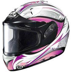 HJC IS-16 Lash Snowmobile Helmets - Pink Silver White