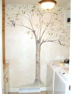 Ideas for Mural at Church, Chidren's and Preschool: Shelly Grund Tree Mural Tree Mural Kids, Tree Wall Murals, Mural Painting, Mural Art, Tree Wall Painting, Hand Painted Walls, Wall Decor, Room Decor, Trendy Tree