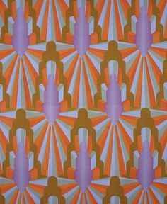 Archway | Eddie Squires / furnishing fabric; screen printed cotton / 1968